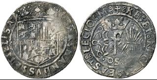 Moneda de 1 real, ceca de Sevilla