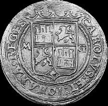 """4 reales, tipo """"pilares"""", Carlos y Juana. Ceca de Méjico"""